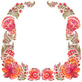 frame with ornament in folk style - 212137498