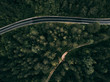 Forest mountain road - aerial view - 212146672