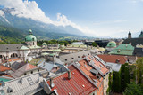 Innsbruck city center aerial view - 212155288