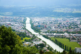 Innsbruck aerial view. Inn river - 212155694