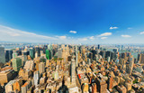 View of Manhattan from the skyscraper's observation deck. New York. - 212191065