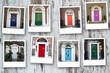 Polaroid of Georgian Doors in Dublin, Ireland - 212197496