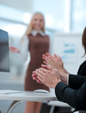 blurred image your business presentation. the business concept