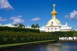 PETERHOF, RUSSIA - August, 2017: The church  in Peterhof Grand Palace - 212201469