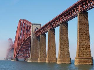 Forth Bridge over Firth of Forth in Edinburgh