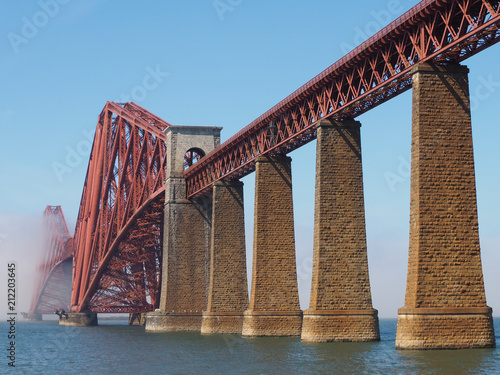 Forth Bridge over Firth of Forth in Edinburgh - 212203645