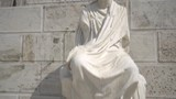 Athens, Greece. Marble statue in the Acropolis of Athens - 212209497