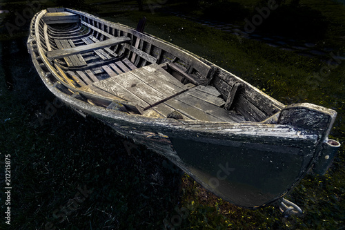Foto Murales Old traditional wooden boat