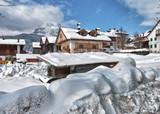 Snowy Landscape of Italian Alps on Winter - 212222420