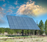 Giant solar panel in open countryside - 212222676
