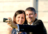Bride and Groom making Self Portrait Picture - 212222863