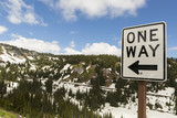 One Way Drive in Mt Rainier National Park in Washington state - 212234288
