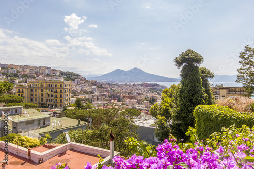 Fotobehang Napels Panoramic view of the beautiful city of Naples in Italy