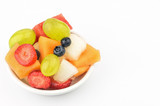 Colorful fruit salad with copy space - 212246299
