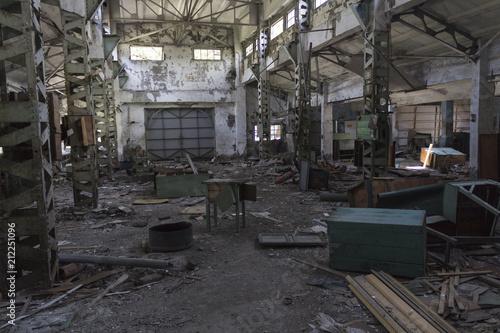 Fotobehang Oude verlaten gebouwen Ruins of buildings, abandoned Factory