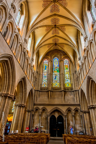 Wells Cathedral, Somerset, England, UK  - 212255684