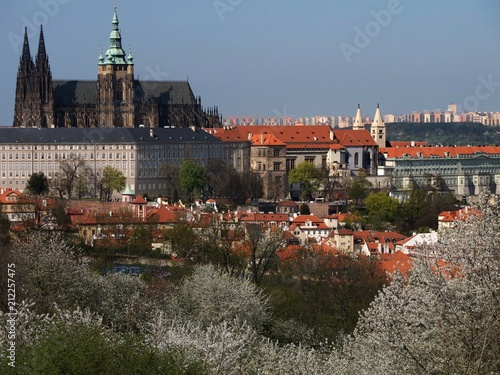 View of Prague Castle and Panorama of City, Czech Republic