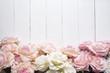 Leinwanddruck Bild - Wedding flower background on white wood