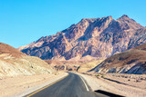 Road in Death Valley National Park (Artist's Drive), United States. - 212258877