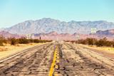 Route 66 crossing the Mojave Desert (near Amboy), California, United States .  - 212259006