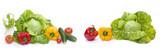 Green cabbage. Red and yellow pepper. © liubovi samoilova