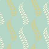 Background with floral motif. Vector texture with hand drawn plants. Vector pattern. - 212263651