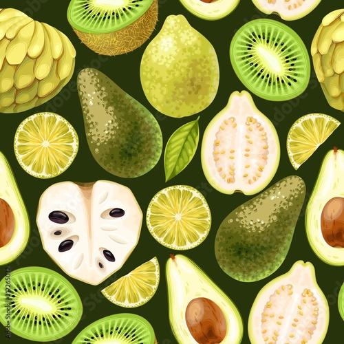 Seamless fruit pattern - 212265032