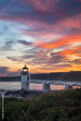 Marshall Point Light Sunset Vertical