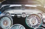Vintage car speedometer - 212268210