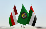 Flags of Oman GCC and UAE