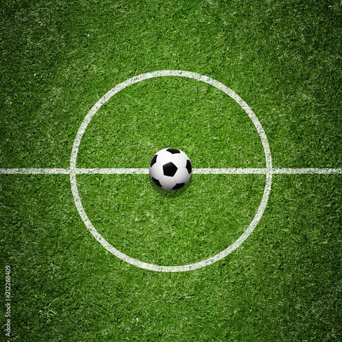 Leinwanddruck Bild Ball auf dem Fussballplatz