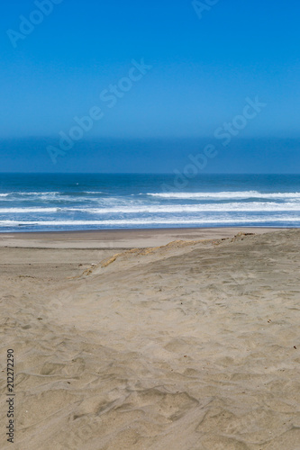 Looking out to sea, at Ocean Beach in San Francisco