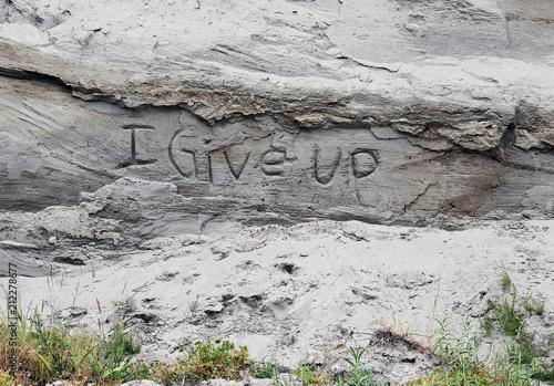 Plexiglas Graffiti Sand Cliff Graffiti