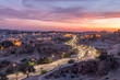 Sunset and Traffic in the city of Fez in Morocco - 212283485