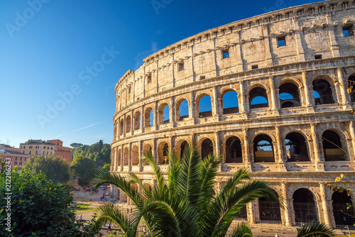 View of Colosseum in Rome, Italy