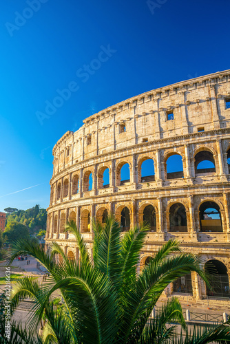 Foto Murales View of Colosseum in Rome, Italy