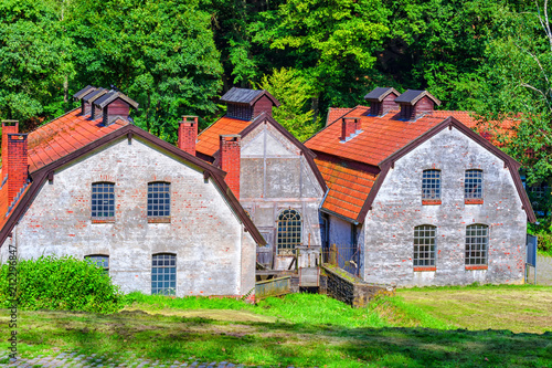 Fotobehang Oude verlaten gebouwen Old factory building and facade