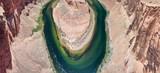 Panoramic aerial view of Horseshoe Bend, Arizona, USA - 212300803