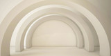Minimalistic, abstract background with an arch. 3d render, minimal. © MiaStendal