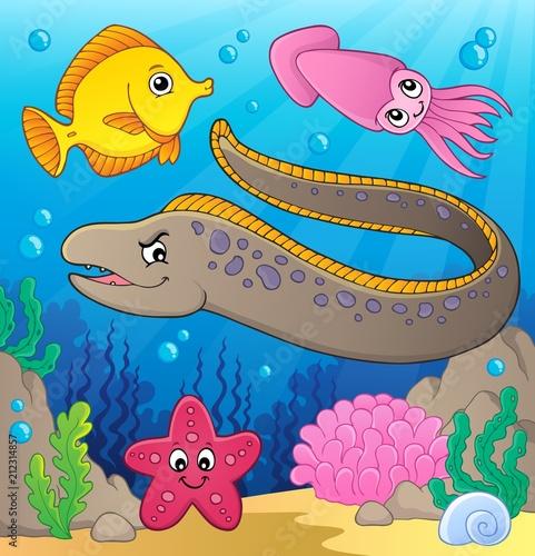 Fotobehang Voor kinderen Sea life theme image 2