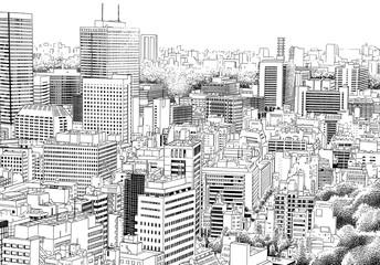鳥瞰01-線画