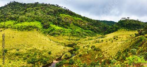 Fotobehang Meloen The Horton Plains. Beautiful landscape. Sri lanka panorama