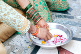 Indian couple playing Ring Fishing game in wedding ceremony of India - 212326452