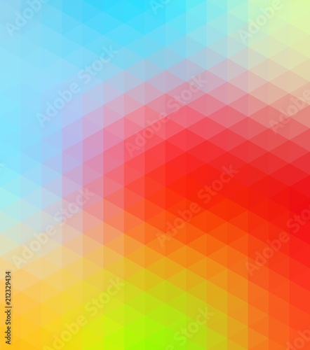 Multicolored low poly illustration consist of triangles. Pattern for your design. Origami style - 212329434
