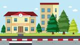 A School Building Scene - 212334068