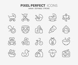 baby thin line icons 2
