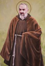 """Постер, картина, фотообои """"Fresco of Padre Pio in Valencia"""""""