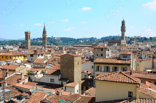 The City Town and landscape of Florence in Italy - 212342206