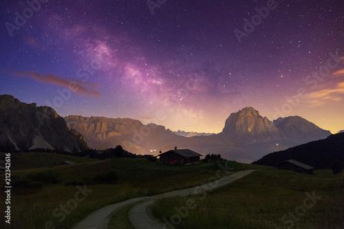 Fototapeta Val Gardena Dolomites with Star