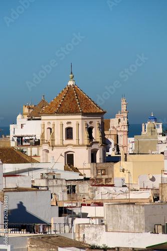 canvas print picture Klosterkirche von San Francisco in Cadiz